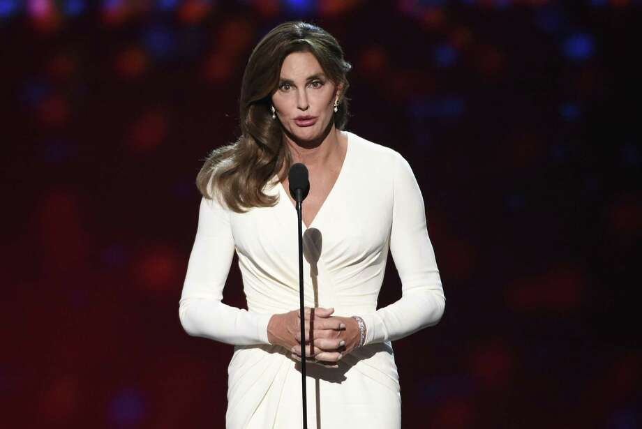 """FILE - In this Wednesday, July 15, 2015 file photo, Caitlyn Jenner accepts the Arthur Ashe award for courage at the ESPY Awards at the Microsoft Theater in Los Angeles. Sheriff's investigators plan to recommend prosecutors file a vehicular manslaughter charge against Jenner for her role in a fatal car crash on the Pacific Coast Highway in Malibu last February. Los Angeles County Sheriff's Department spokeswoman Nicole Nishida says investigators found that Jenner was driving """"unsafe for the prevailing road conditions"""" because her SUV rear-ended a Lexus, pushing it into oncoming traffic. Photo: (Photo By Chris Pizzello/Invision/AP,File) / Invision"""