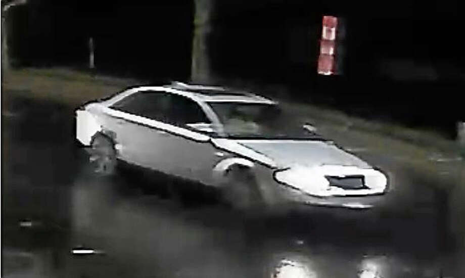 New Haven police are looking for a light-colored Audi A4, captured on surveillance, which they believe dragged a man through city streets. The man was found the night of Dec. 1 with serious injuries. Photo: Courtesy Of New Haven Police Department