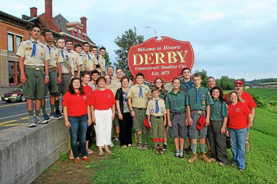 CONTRIBUTED PHOTO  Scouts, leaders and family members of Boy Scout Troop 3 and Venture Crew 33. Photo: Journal Register Co.