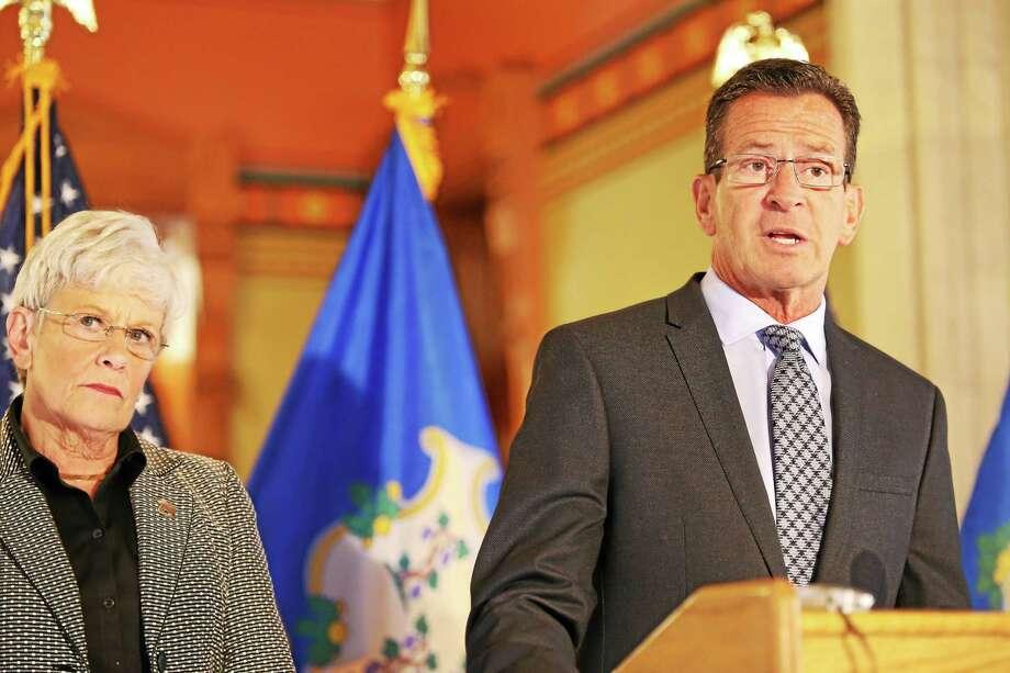 Lt. Gov. Nancy Wyman and Gov. Dannel P. Malloy. Photo: Christine Stuart — CT News Junkie