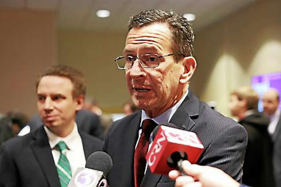 Gov. Dannel P. Malloy after Tuesday's Middlesex Chamber of Commerce breakfast. Photo: Christine Stuart — CT News Junkie