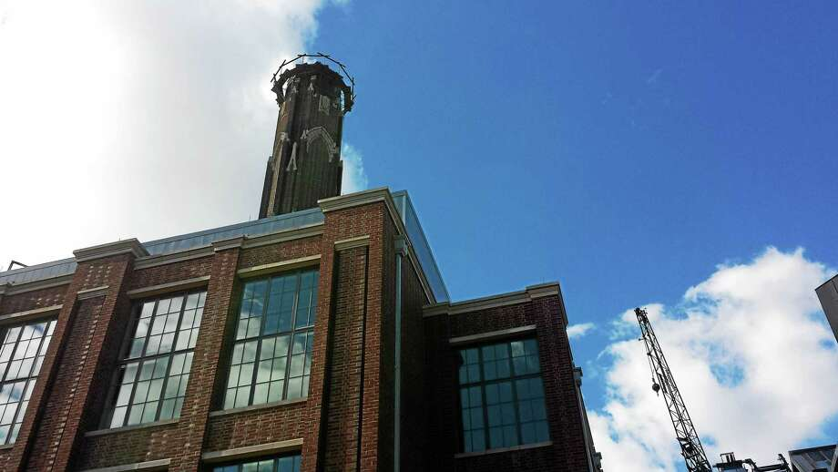 A worker died after falling 40 feet inside chimney at Central Power Plant at Yale in New Haven Photo: Journal Register Co.