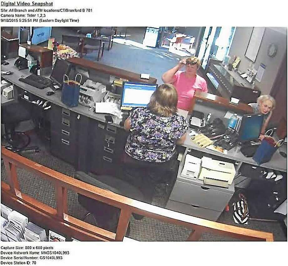 Branford police are looking for this woman who they say robbed the People's Bank on East Main Street Friday. Photo: Branford Police Department