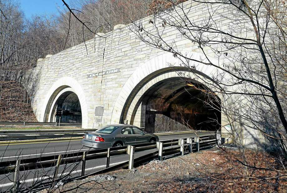 The Heroes Tunnel, formerly the West Rock Tunnel, on the Wilbur Cross Parkway in New Haven Wednesday. Photo: Arnold Gold — New Haven Register