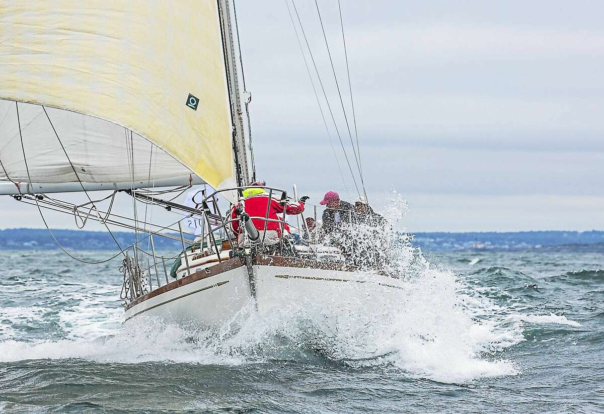 Shearwater, owned by Dan and Gretchen Biemesderfer, Guilford, who were taking part in the Transatlantic Race 2015.