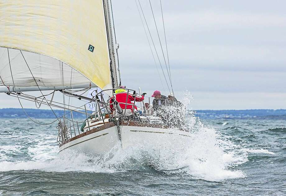 Shearwater, owned by Dan and Gretchen Biemesderfer, Guilford, who were taking part in the Transatlantic Race 2015. Photo: Copyright 2015 Daniel Forster/NYYC   / 2015 Daniel Forster/NYYC