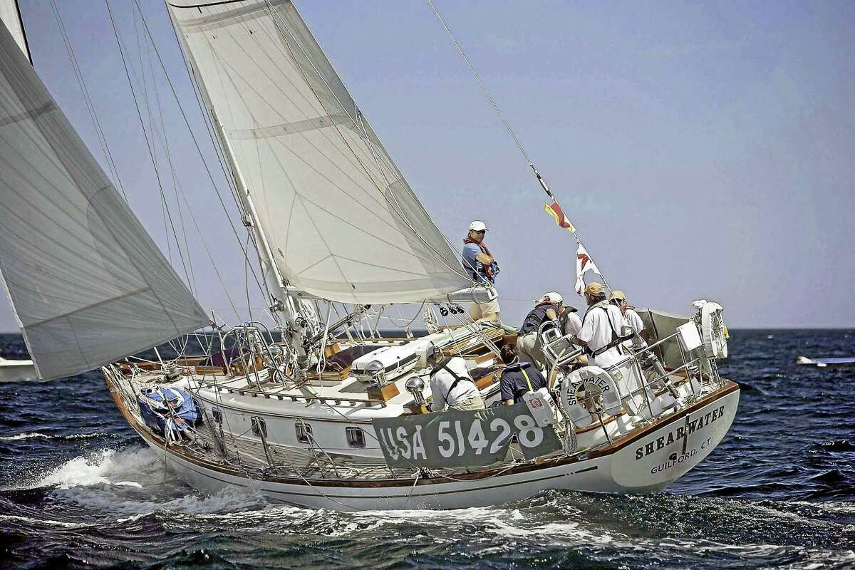 The Shearwater from Guilford in its Transatlantic voyage as part of the race.