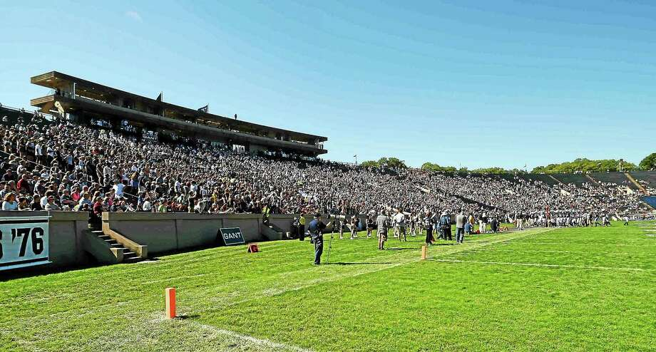 """Temporary lighting will need to be set up at Yale Bowl for the 2:30 p.m. start time in """"The Game"""" vs. Harvard in November. Photo: Peter Hvizdak — Register File Photo"""