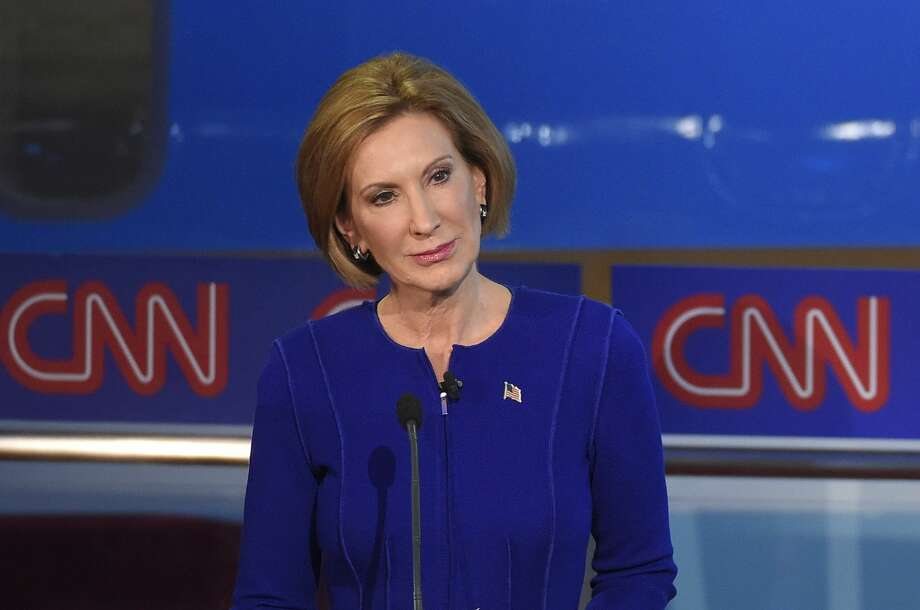 Republican presidential candidate, businesswoman Carly Fiorina stands during the CNN Republican presidential debate at the Ronald Reagan Presidential Library and Museum on Sept. 16, 2015 in Simi Valley, Calif. Photo: AP Photo/Mark J. Terrill   / AP