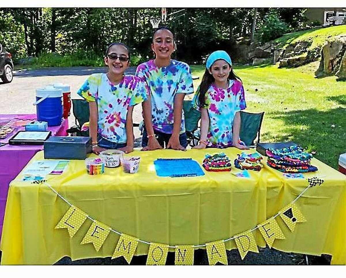 Left to right: Alex D'Amico, Emma D'Amico and Megan Loiacano