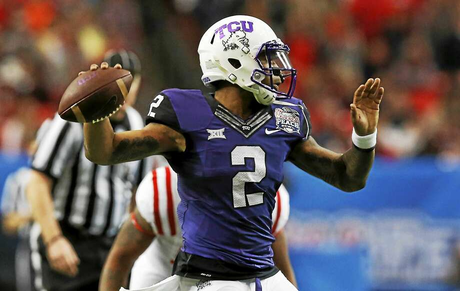 TCU quarterback Trevone Boykin, a second-team Walter Camp All-American year ago, headlines the 2015 Walter Camp Player of the Year preseason watch list. Photo: The Associated Press File Photo   / AP