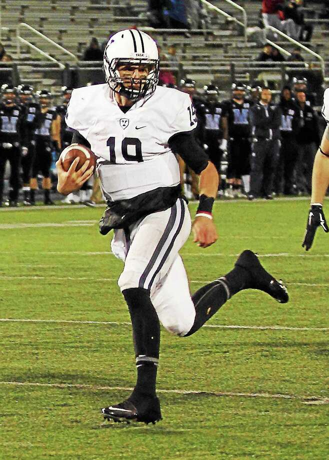 Yale quarterback Morgan Roberts. Photo: Photo Courtesy Of Yale Athletics   / 2015 All Rights Reserved