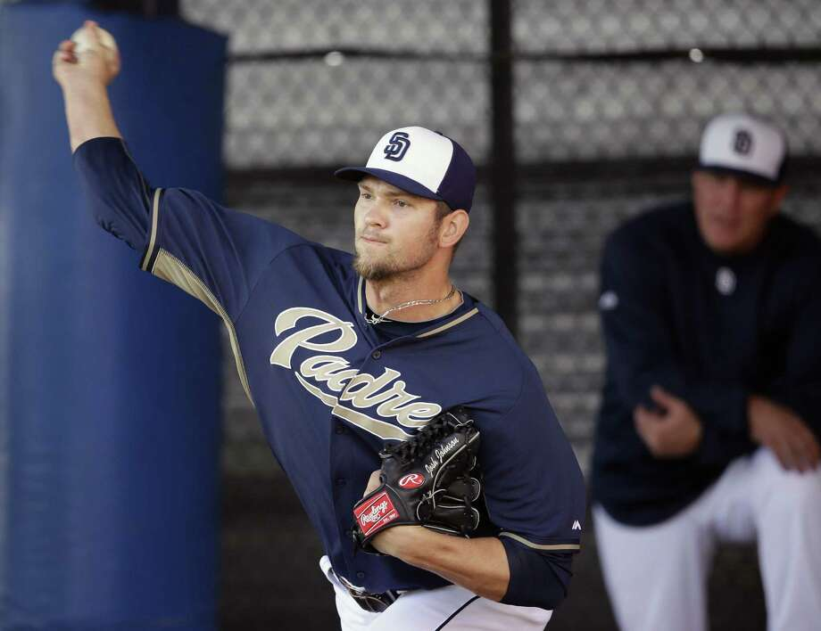 The San Diego Padres said Wednesday right-hander Josh Johnson, who has been sidelined for two seasons, will have a third reconstructive elbow surgery. Photo: Tony Gutierrez — The Associated Press File Photo   / AP
