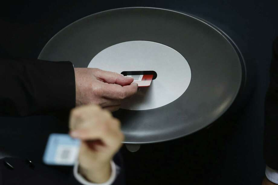 German lawmakers are voting on a third bailout package for Greece during a special session of the parliament Bundestag in Berlin, Germany, Friday, July 17, 2015. (AP Photo/Markus Schreiber) Photo: AP / AP