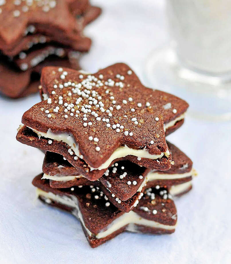 Chocolate Gingerbread Stars Photo: Susan Salzman - Www.oneforthetable.com
