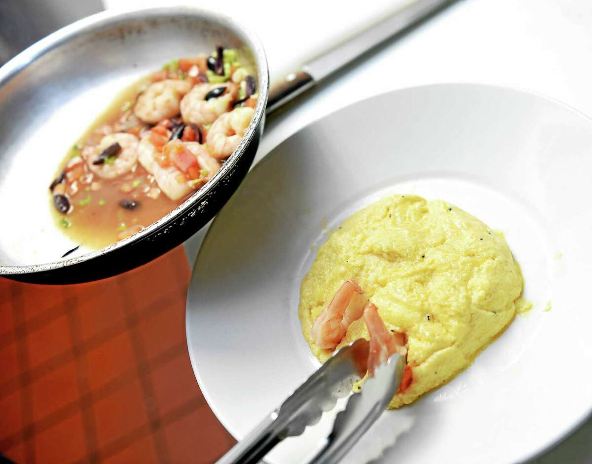 (Arnold Gold-New Haven Register) Shrimp and Grits made by Sous Chef Jeffery Carr at Box 63 American Bar & Grill in New Haven on 7/14/2015.