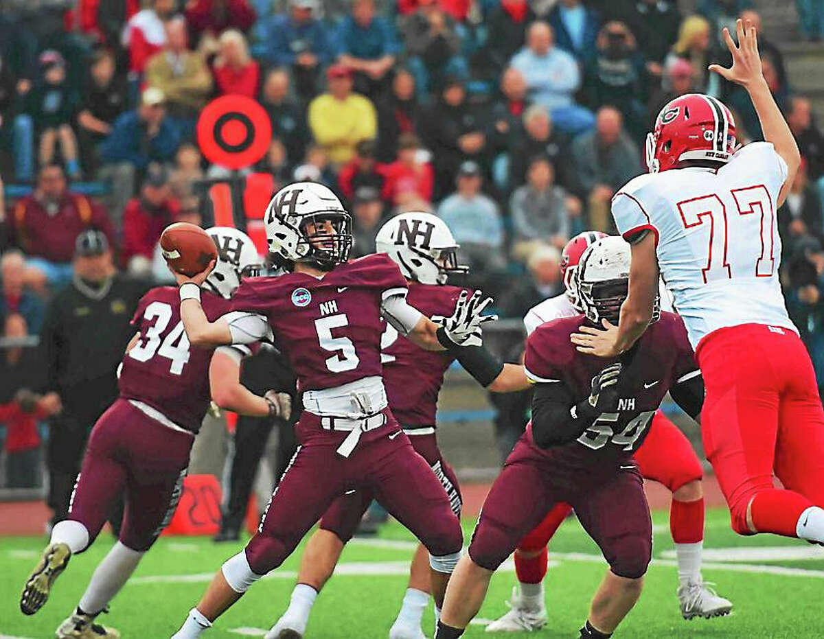 The North Haven Indians took on New Canaan in their first state championship appearance this past weekend. New Canaan edged out a win, 42-35.