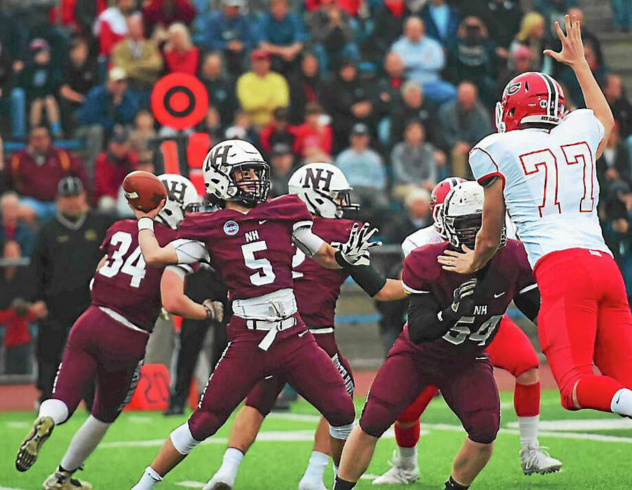 The North Haven Indians took on New Canaan in their first state championship appearance this past weekend. New Canaan edged out a win, 42-35. Photo: Peter Hvizdak -- New Haven Register