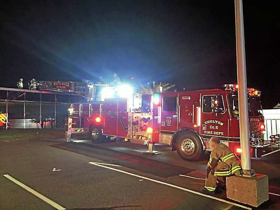 Firefighters quickly extinguished a small fire Friday morning in an equipment room at the Sikorsky Aircraft facility on Platt Road in Shelton. Photo: Photo From White Hills Fire Co. 5