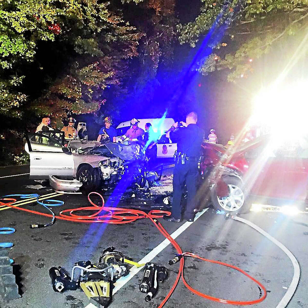 A Shelton woman died after a head-on crash Thursday night in Shelton. Her 15-month-old daughter survived the wreck with minor injuries, police said.