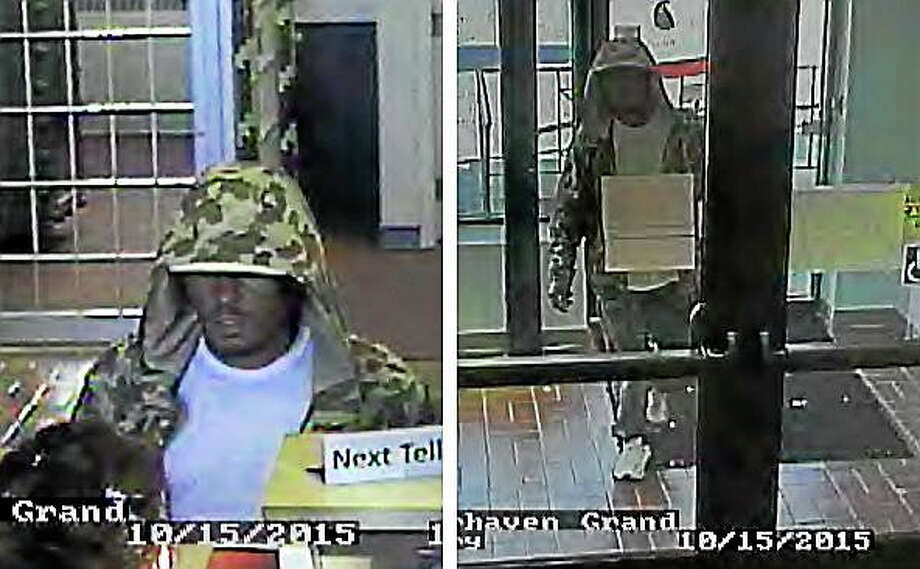 New Haven police are looking for this man, who they say robbed a bank Thursday afternoon. Photo: Photo Courtesy Of The New Haven Police Department