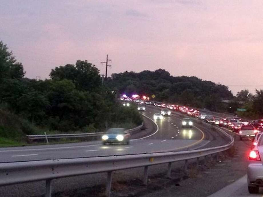 Traffic is backed up on a road after an accident. Photo: Digital First Media File Photo