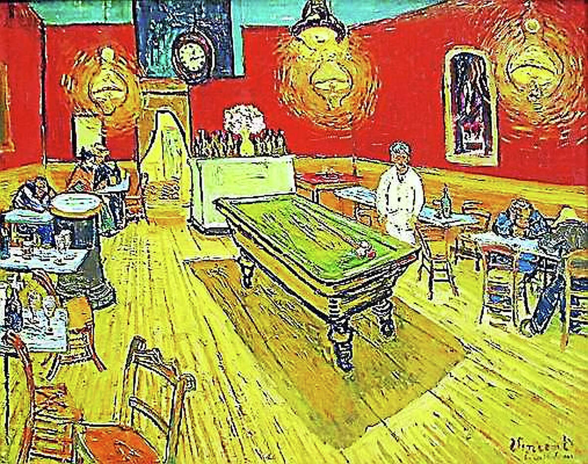 """""""The Night Café"""" by Vincent Van Gogh hangs in the Yale Art Gallery."""