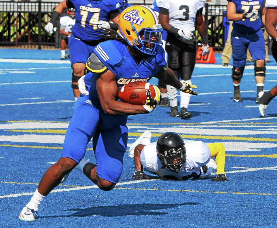 Hillhouse grad Andre Anderson is having a fantastic junior season for New Haven, which plays for the Northeast-10 Conference title on Saturday. Photo: Photo Courtesy Of New Haven Athletics