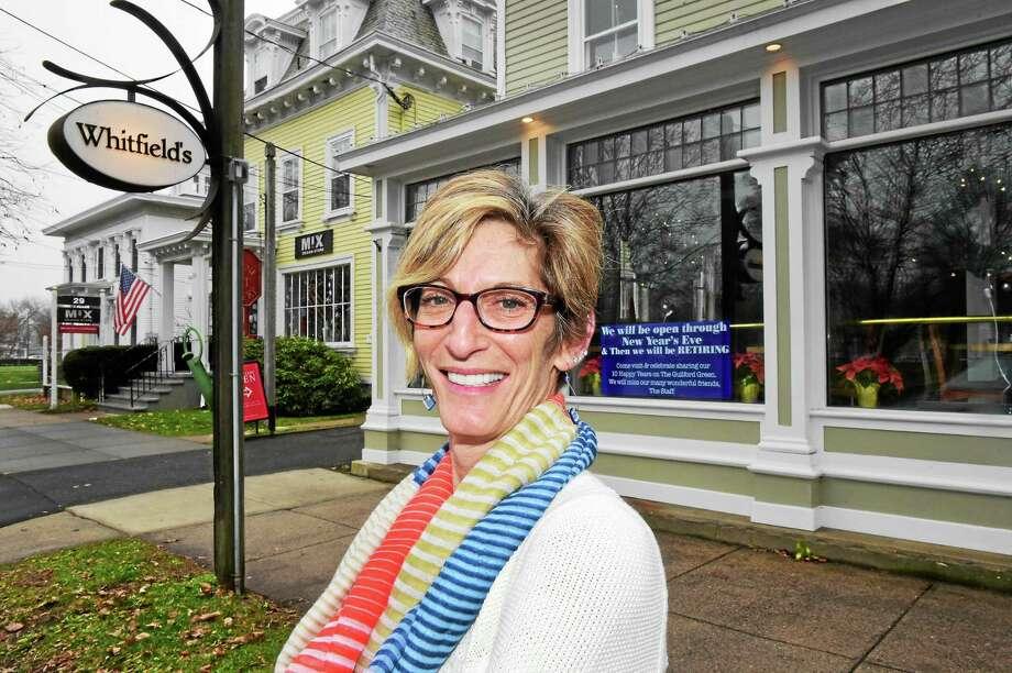 Karen Marcus, manager of Whitfield's Restaurant in Guilford, in front of the restaurant Friday. Photo: (Peter Hvizdak - New Haven Register)   / ©2015 Peter Hvizdak