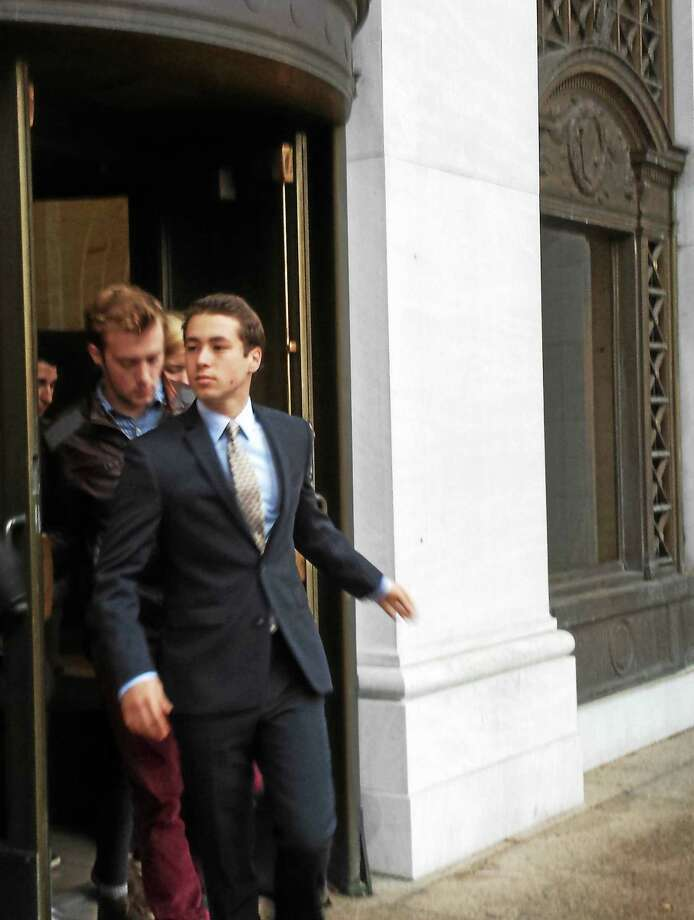 Zachary Kramer, 21, pleaded guilty to one count of conspiring to distribute a controlled substance Thursday. Kramer was charged with selling synthetic drugs on the Wesleyan campus in May. Photo: Anna Bisaro — New Haven Register