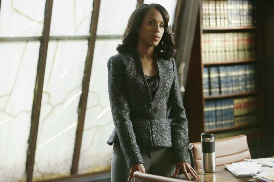 "This photo provided by ABC shows Kerry Washington as Olivia Pope in the season finale of ""Scandal,"" on the ABC Television Network. ""Scandal"" and ""Mad Men"" are among the leading contenders for the 67th Emmy Award nominations, to be announced 11:30 a.m. EDT Thursday, July 16, 2015, in West Hollywood, Calif. Photo: Nicole Wilder/ABC Via AP   / ABC"