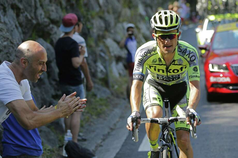 Stage winner Rafal Majka rides during the eleventh stage of the Tour de France on Wednesday. Photo: Christophe Ena — The Associated Press   / AP