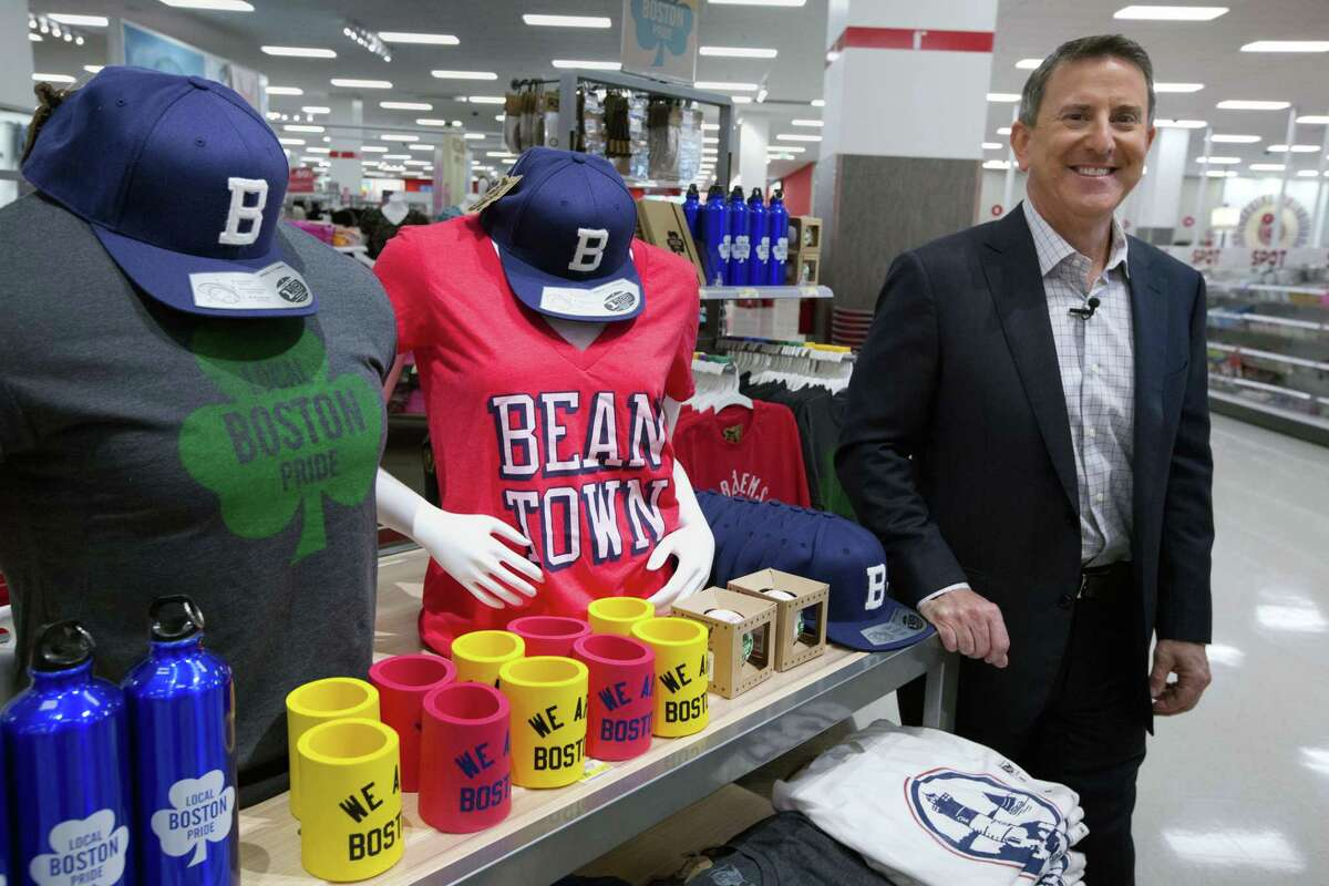 In this Aug. 21, 2015 photo, Target CEO Brian Cornell poses for a photo at the CityTarget store in Boston. The store that's near Fenway Park is part of Target's effort to tailor merchandise to local preferences.