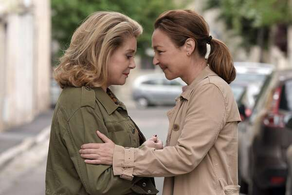 "Catherine Deneuve and Catherine Frot in ""The Midwife."""