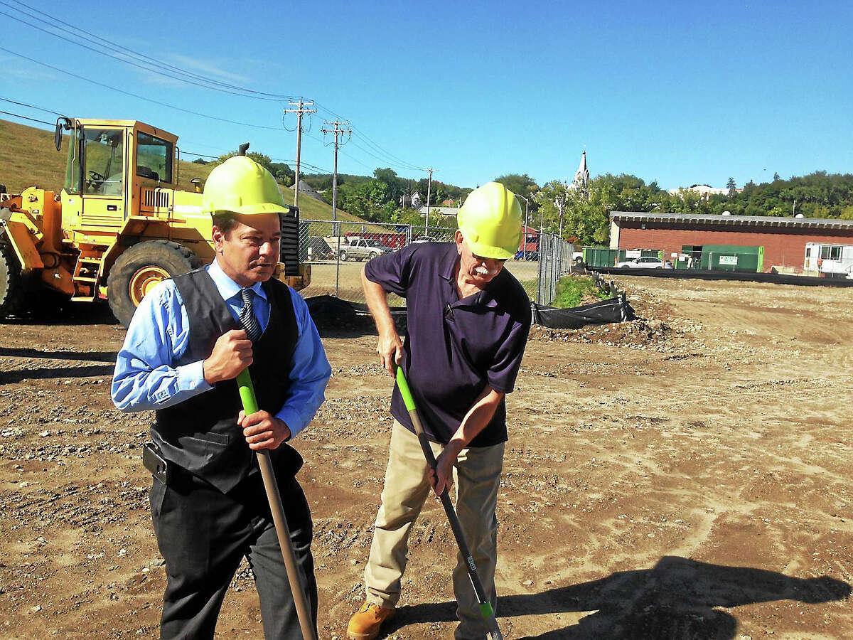 Mayor David Cassetti, left, and Public Works Director Doug Novak.