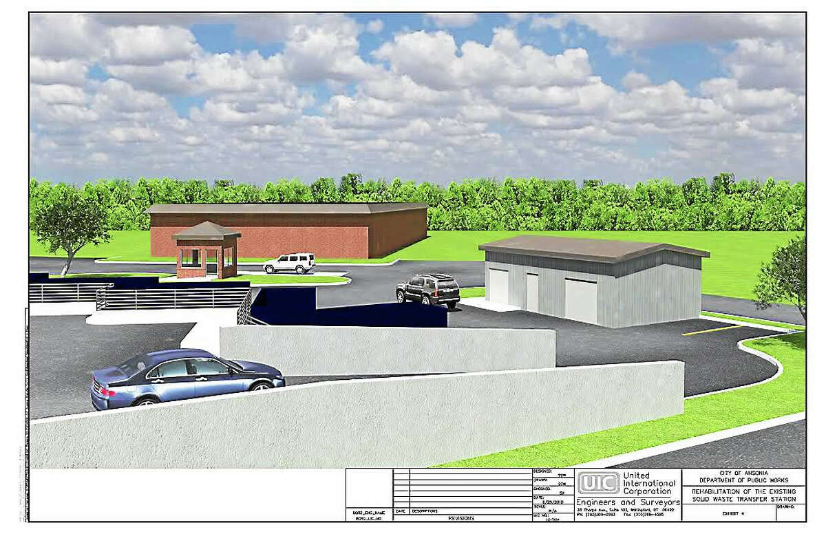 A rendering of the new transfer station.