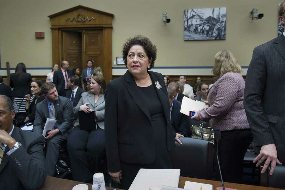 Katherine Archuleta then-director, Office of Personnel Management, testifies before a House Oversight and Government Reform Committee hearing on Capitol Hill in Washington on June 16, 2015. Photo: AP Photo/Cliff Owen   / Cliff Owen