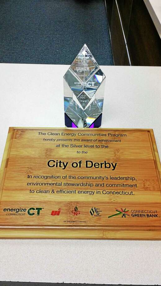 Connecticut Clean Energy Communities recognized Derby's commitment to reducing its energy footprint. Photo: Contributed Photo