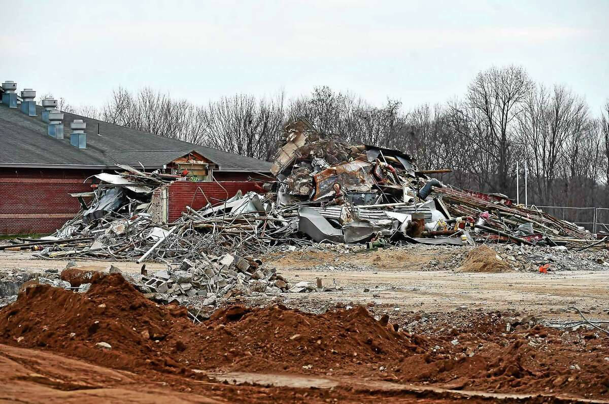 The demolition of the old Guilford High School on New England Road has been completed.