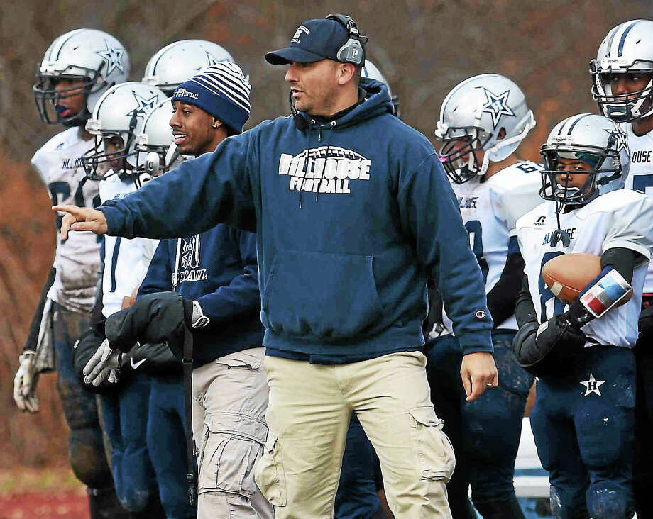 Nick D'Angelo, citing a hostile environment brought on by dissatisfied players and parents, stepped down as the head football coach of Coginchaug Regional High School on Tuesday. He is the former assistant coach at New Haven's Hillhouse High School. Photo: File Photo   / Peter Hvizdak