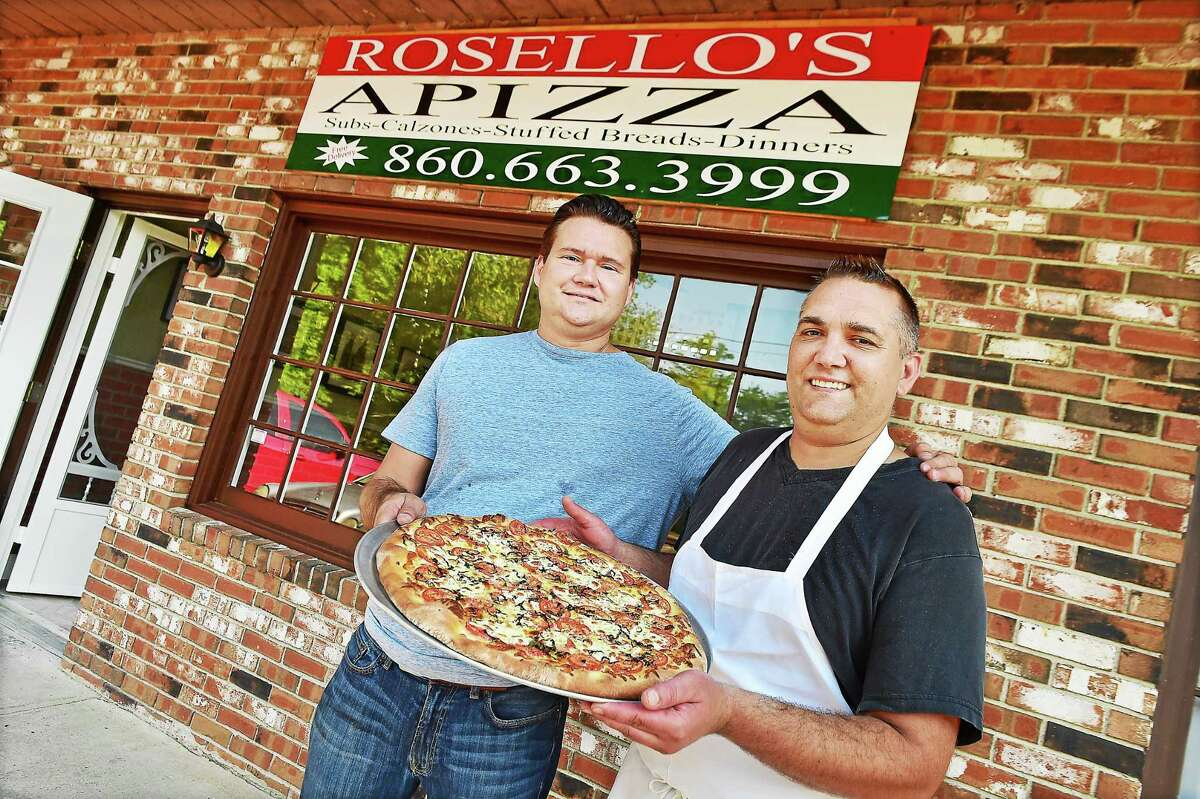 Madison resident James Freytag, at right and his brother Ronald Freytag, of Old Saybrook, co-owners of Rosello's Apizza, are photographed Friday August 7, 2015. The Freytags will hold their grand opening at 206 Route 80 in Killingworth, Friday, August 14. Visit www.rosellos.com for the menu.