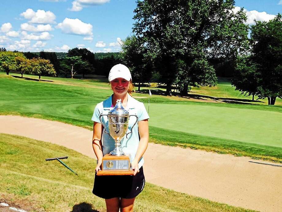 Greenwich's Catherine McEvoy rallied to win the 50th State Women's Amateur title at Indian Hill Country Club on Thursday. Photo: Joe Morelli — Register