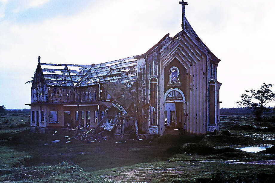 "A destroyed church from the movie ""My Father's Vietnam."" Photo: Soren Sorensen"