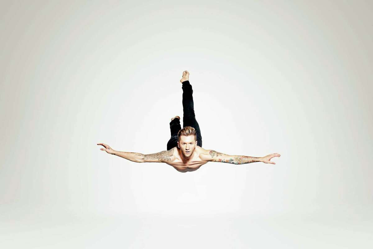 Travis Wall in flight during Shaping Sound.