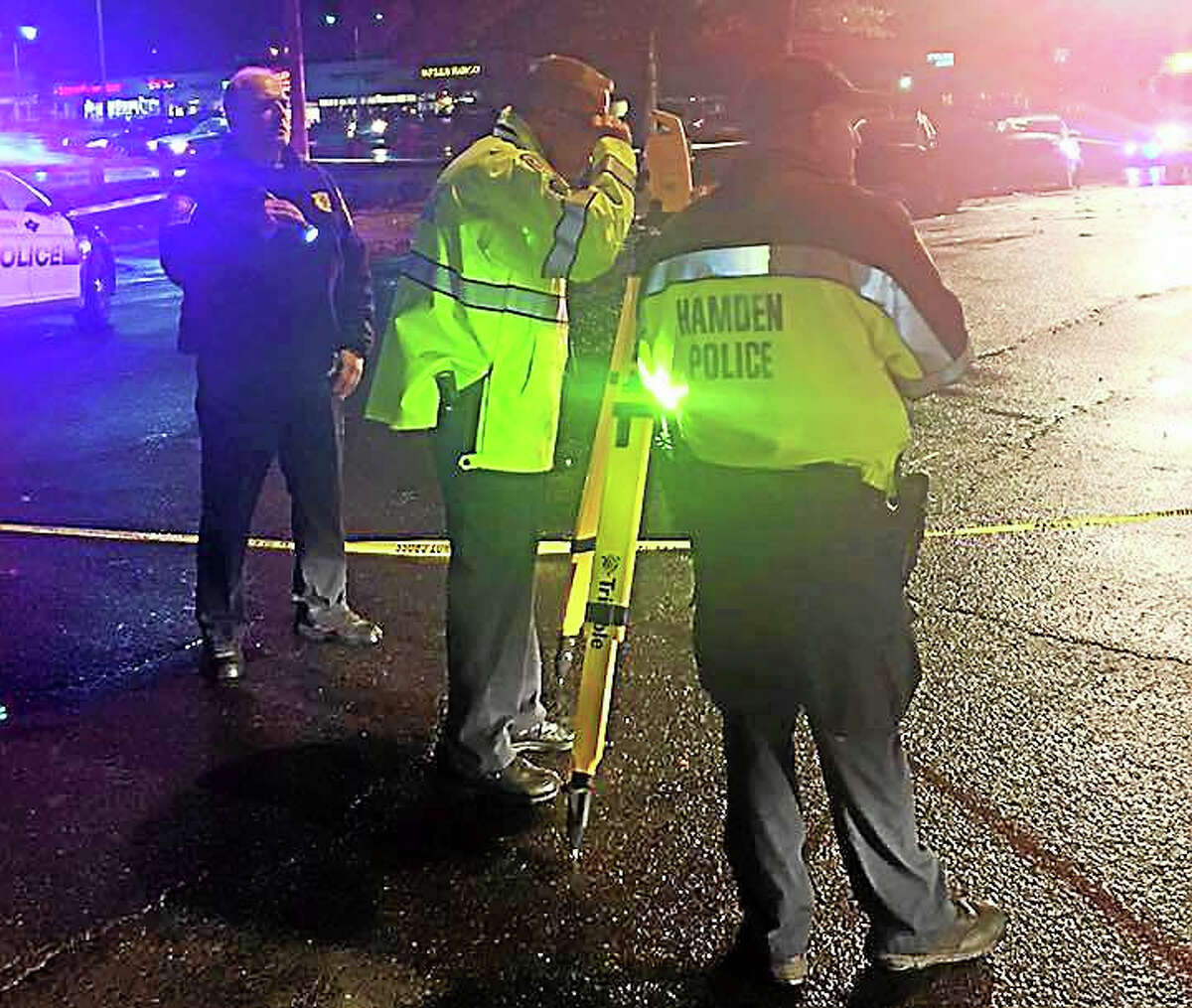 Several people were taken to the hospital and part of Dixwell Avenue in Hamden was shut down Wednesday night after a serious four-vehicle crash. Police are asking anyone who wtinessed it to call them.