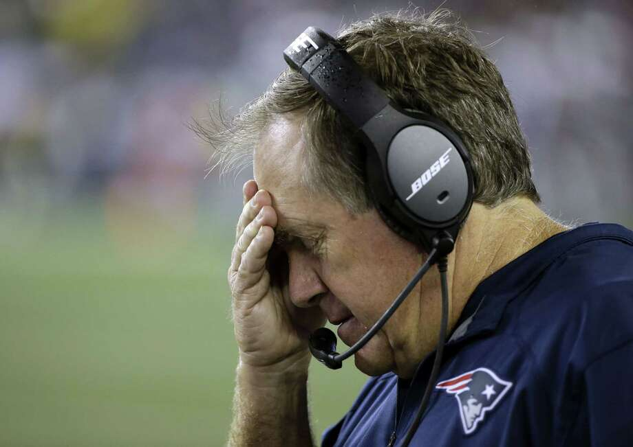 """Head coach Bill Belichick led the New England Patriots to a season-opening win over the Pittsburgh Steelers on Thursday in Foxborough, Mass. Register sports columnist Chip Malafronte says the latest Pats scandal, involving stolen playbooks and other underhanded activities at Gillette Stadium, sounds more like a plot to """"The Brady Bunch."""" Photo: Stephan Savoia — The Associated Press   / AP"""