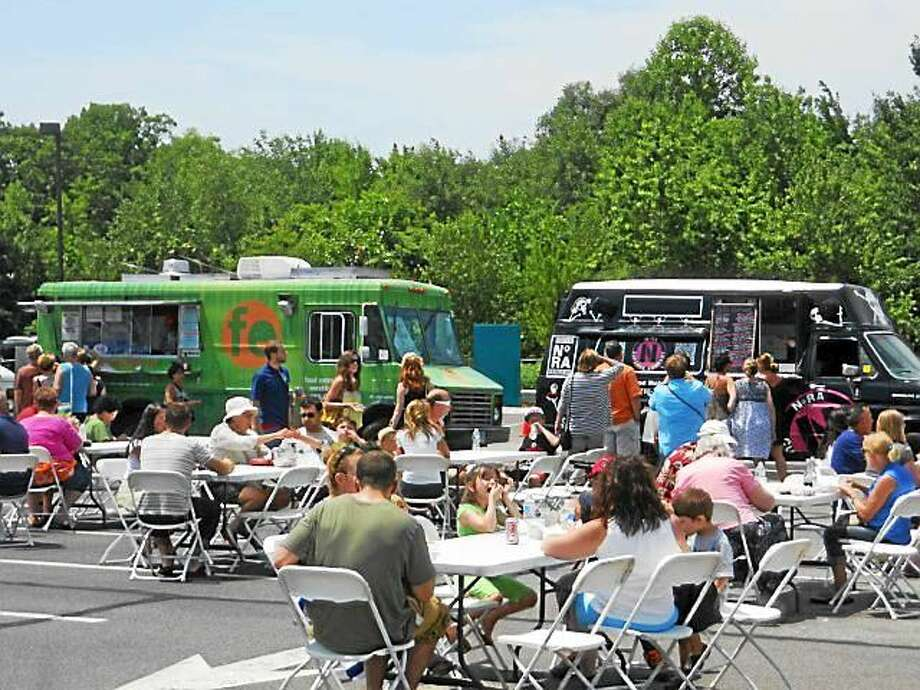 Food trucks at last year's Tanger Outlets festival. Photo: Contributed