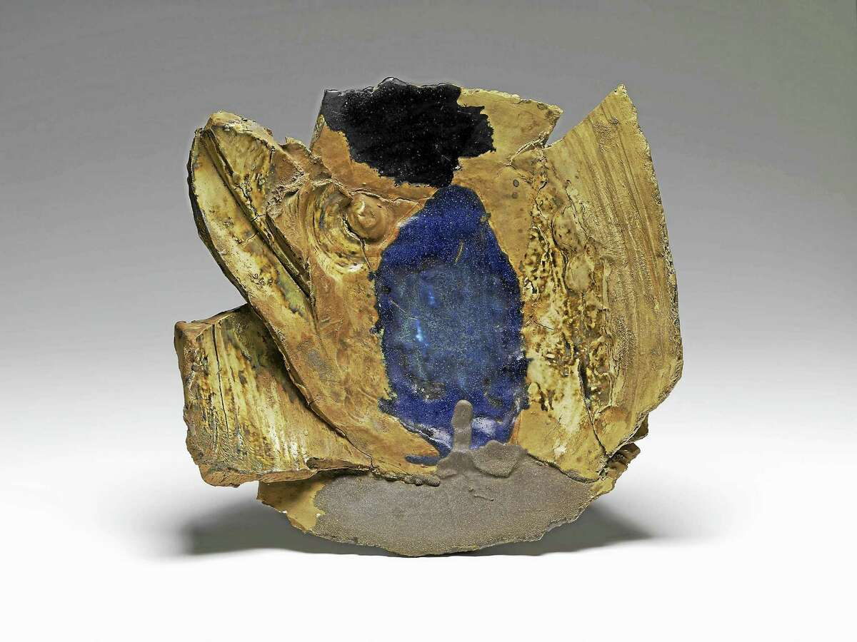 Untitled plate by Peter Voulkos.