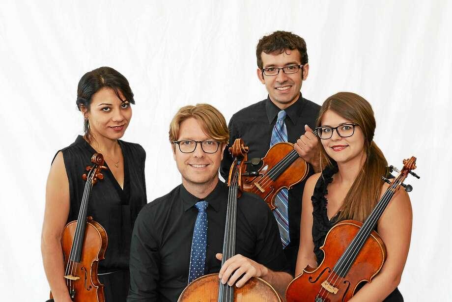 Yaira Matyakubova, left, Philip Boulanger, Gregory Tompkins and new member and violist Annalisa Boerner. Photo: Kathleen Cei — Music Haven
