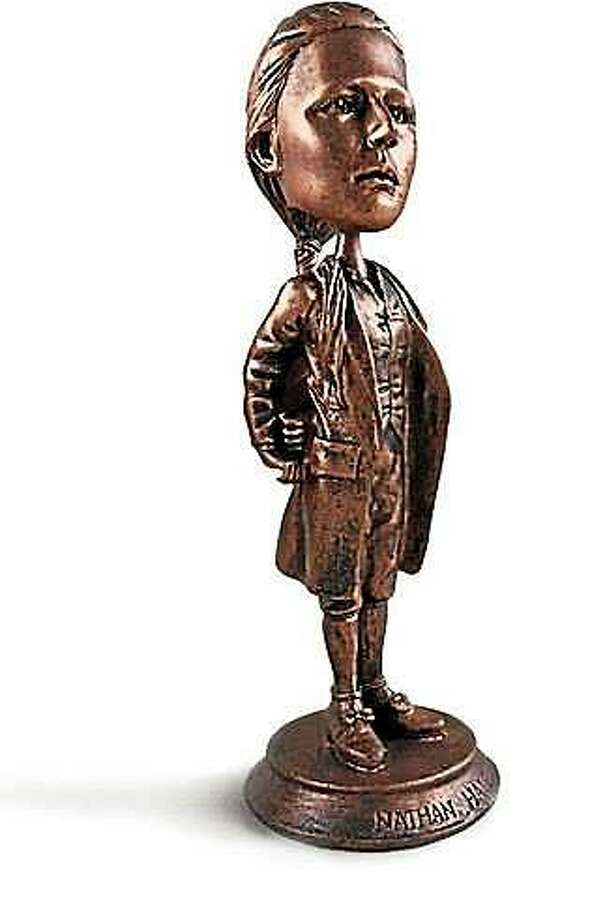 The Nathan Hale bobble-head, a souvenir of the Yale class of 1975's 40th reunion. Photo: Journal Register Co.